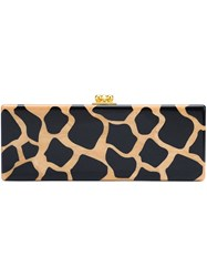 Edie Parker Leopard Pattern Rectangular Clutch Nude And Neutrals