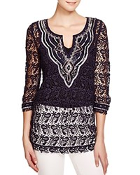 Moon And Meadow Embellished Tunic Navy