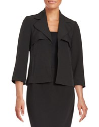 Nipon Boutique Cascade Open Front Blazer Black