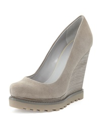 Luxury Rebel Syri Suede Stacked Wedge Alloy