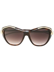 Cartier 'Panthere Wild' Sunglasses Brown