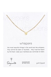 Dogeared 14K Gold Plated Sterling Silver Four Leaf Clover Necklace Metallic