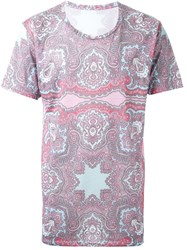 Dresscamp Paisley Print T Shirt Pink And Purple