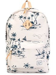 Herschel Supply Co. Tropical Pattern Zip Up Backpack Multicolour