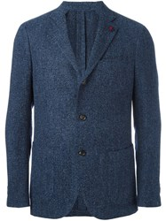 Lardini Classic Single Pocket Blazer Blue