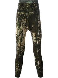 11 By Boris Bidjan Saberi Camo Effect Leggings Brown