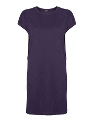 Pied A Terre Textured Cocoon Dress Navy