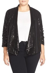 Plus Size Women's Bb Dakota 'Ulma' Sequin Drape Front Blazer