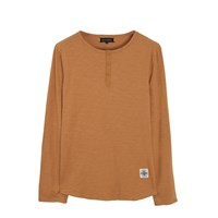 Roamers And Seekers Custom Cinnamon Long Sleeve Henley T Shirt Yellow Orange