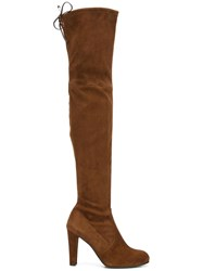 Stuart Weitzman 'Highland' Heeled Boots Brown