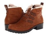 Trotters Snowflakes Iii Cognac Women's Lace Up Boots Tan