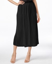 Ny Collection Crinkle Midi Skirt Black
