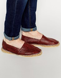 Asos Espadrilles In Brown With Woven Effect Brown