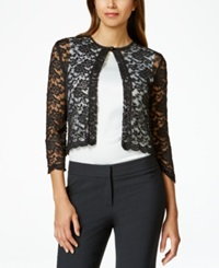Connected Petite Lace Bolero Shrug Black