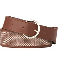 Lk Bennett Brooke Woven Leather Belt Tan Tan