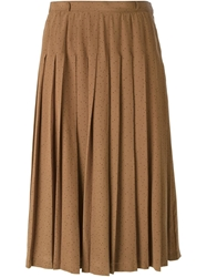 Louis Feraud Vintage Pleated Midi Skirt