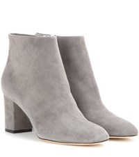 Loro Piana Liza Suede Ankle Boots Grey