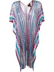 Missoni Semi Sheer Chevron Kaftan Multicolour