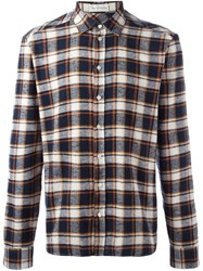 Faith Connexion Plaid Button Down Shirt Blue
