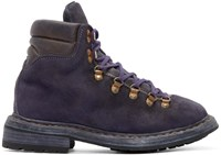 Guidi Purple Suede Hiking Boots