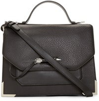 Mackage Black Leather Jori Satchel Bag