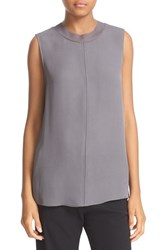 Vince Women's Seam Front Sleeveless Silk Top Shark