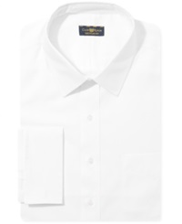 Club Room Estate Big And Tall Wrinkle Resistant White French Cuff Shirt