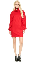 Cnc Costume National Long Sleeve Dress Red