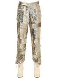 Chloe Sequin Embroidered Pants