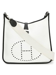 Hermes Vintage 'Evelyne' Shoulder Bag White