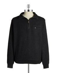 Bugatti Quarter Zip Sweater Black