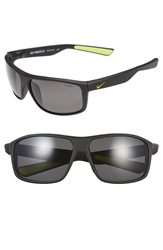 Nike 'Premier 8.0' 63Mm Sunglasses Black Volt Grey Polar Lens