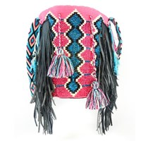 Luxchilas Boho Long Wayuu Luxury Mochila Black