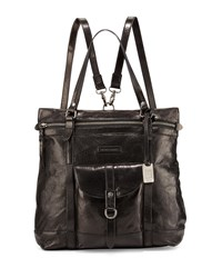 Josie Leather Backpack Tote Bag Black Frye