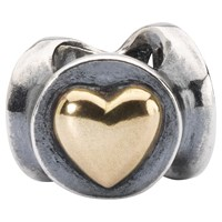 Trollbeads Joy Peace And Love Bead Charm Silver Gold