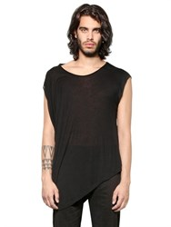 Tom Rebl Asymmetrical Slub Viscose Jersey T Shirt