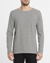 Revolution Grey 1008 Striped Ls Round Neck T Shirt