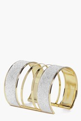 Boohoo Thick Shimmer Cuff Gold