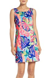 Lilly Pulitzerr Women's Pulitzer 'Cathy' Print Cotton Sheath Dress Multi Exotic Garden