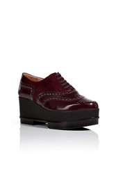 Robert Clergerie Leather Suede Yedilh Platform Oxfords