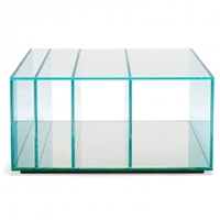 Glas Italia Deepsea Blue Square Coffee Table