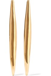 Jennifer Fisher Smooth Slice Gold Plated Earrings