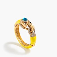 J.Crew Enameled Elephant Bangle Lemon
