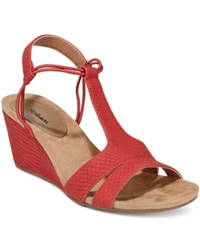 Styleandco. Style Co. Mitzee Stretch Wedge Sandals Only At Macy's Women's Shoes Deep Red