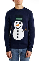 Men's Topman Holiday Snowman Crewneck Sweater