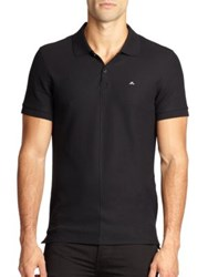 J. Lindeberg Ruby Slim Pique Polo White Black
