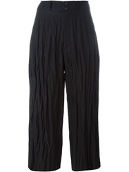 Mcq By Alexander Mcqueen Mcq Alexander Mcqueen Creased Cropped Trousers Black
