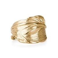Chupi Gold Swan Feather Ring