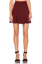 Bishop Young A Line Mini Skirt Burgundy