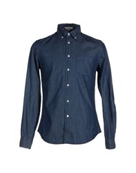 Geox Denim Denim Shirts Men